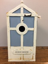 Hallmark Blue White Metal Birdhouse Guest House... - $19.75