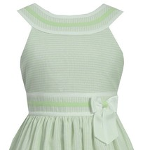 Big Girl Tween Plus Size Lime-Green Metallic Pencil Stripe Dress, Bonnie Jean image 2
