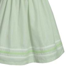 Big Girl Tween Plus Size Lime-Green Metallic Pencil Stripe Dress, Bonnie Jean image 3
