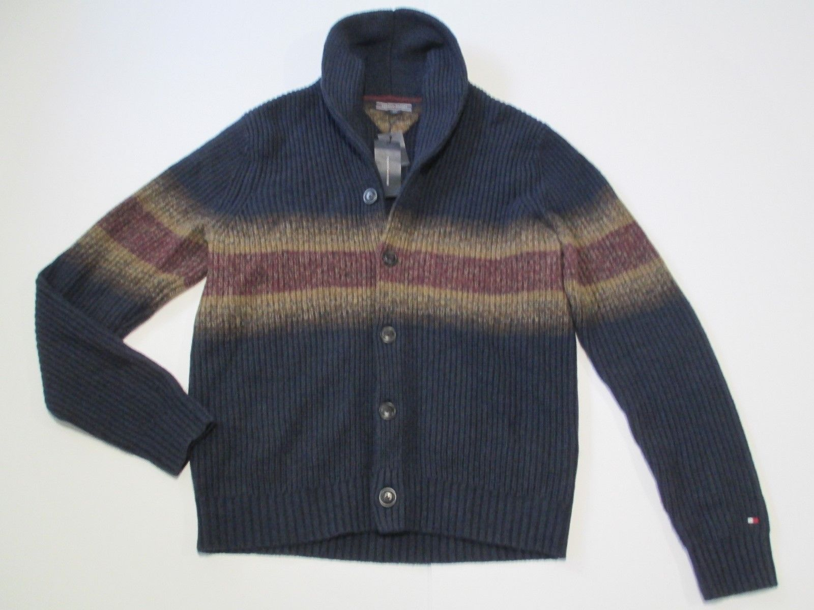 Tommy Hilfiger Shawl Collar Cardigan, Multi-Color, Sz. Large