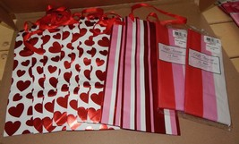 Valentine Decor Mix Lot 11 Items Party Wine Gift Bags Hearts & Gift Tiss... - $12.49