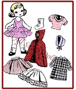 """Vintage Doll Clothing Pattern for 8"""" Dolls ~ No. 2 - $5.99"""