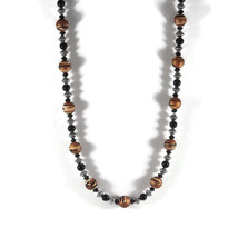 Tiger stripe beaded necklace made from tiger st... - $9.99