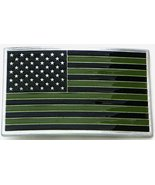 "USA , FLAG, SUBDUED, Belt Buckle 3 1/8"" - $16.82"