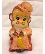 "(K01) Enesco Import  ""Gramma Monkey Sitting & K... - $24.75"