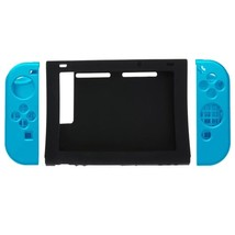 Shockproof Anti-slip Silicone Black Blue Mixed Skin case for Nintendo Switch - $8.81