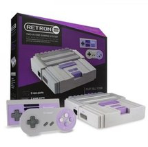 2 In 1 Super Nintendo Games SNES & NES Retro Video Game Twin Console - G... - $60.00
