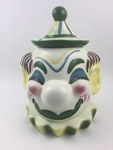 """Sierra Vista Clown Cookie Jar - 11"""" - Green - C... - $55.00"""