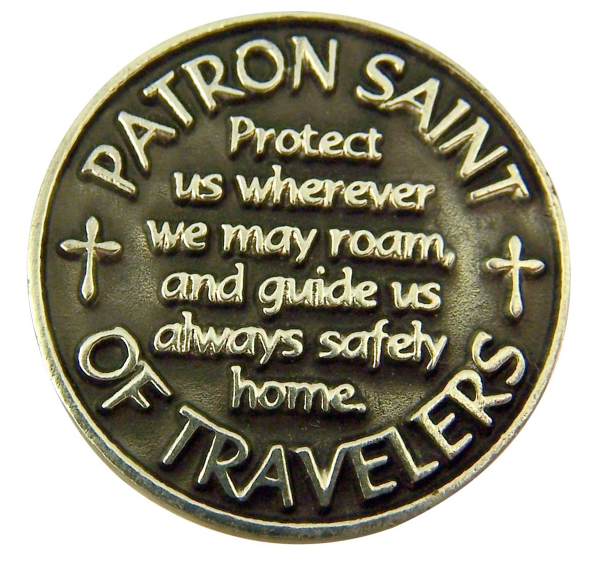 patron of travelers saint christopher devotional prayer coin other. Black Bedroom Furniture Sets. Home Design Ideas