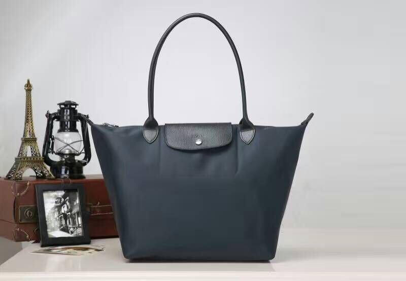 e4a488701c Longchamp Le Pliage Neo Nylon Graphite Tote Handbag Shoulder Bag Size Medium