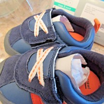 Carter Every Step Infant Shoes Oldie-BC Blue with Orange Size 2.5 Stage 1 Crawl - $15.83