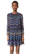 Diane von Furstenberg Women's Kelley Dress, Encore Peacock, 8 - $163.39