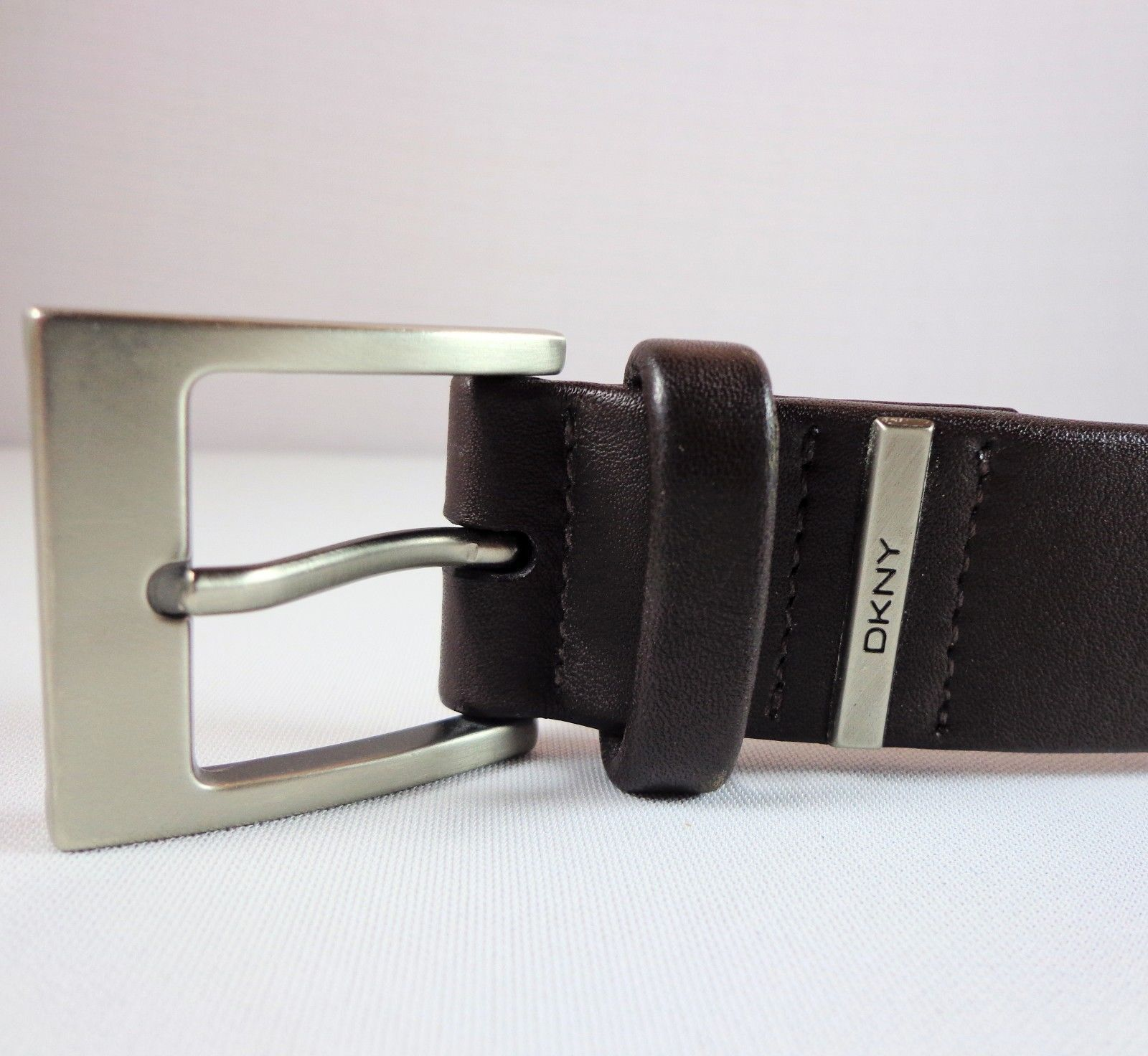 1f071eb51e Mens DKNY Dark Brown Full Grain Leather Belt and 11 similar items. 57