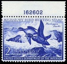 RW19, Mint VF NH $2 Duck Stamp With PL# Cat $90.00 - Stuart Katz - $40.00