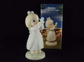 Precious Moments, 527114, Sharing A Gift Of Love, Flame Mark, Issued 1990 - $39.95