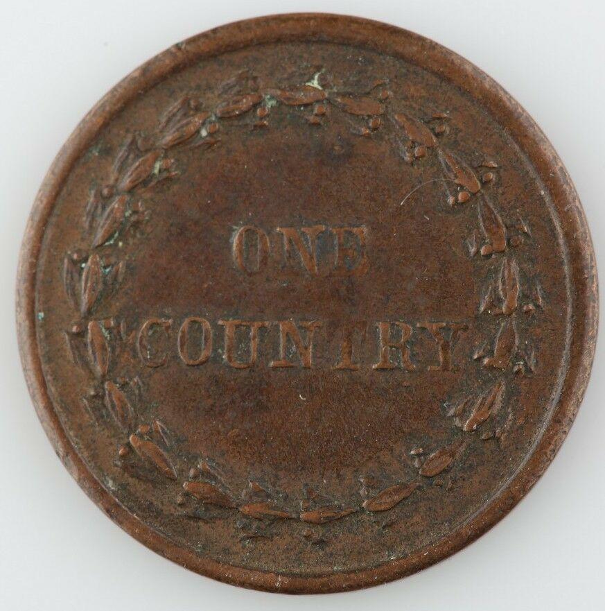 """1863 Cabeza de Indio Guerra Civil Pieza Cud Error"""" Union And Liberty / un País """""""