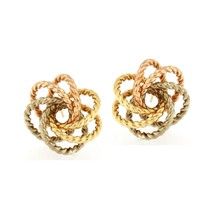 Swirl Earrings 14kt Multi-Tone Gold - $241.88
