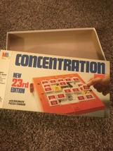 """Concentration Game Milton Bradley 23RD Edition """"Box Only"""" - Re - $6.18"""