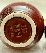 Vintage McCoy Pottery Brown Drip Glaze Creamer and Covered Sugar Bowl Set 7020 image 3
