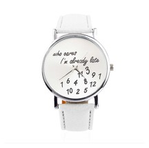 Fashion Luxury Women's Watch WristWatch Leather Band AH2