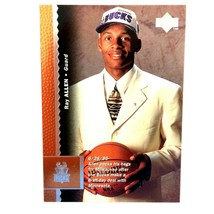 Ray Allen Rookie Card 1996-97 Upper Deck #69 NBA HOF Milwaukee Bucks  - $3.91