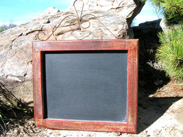 Chalkboard Wall Hang Shabby red wood with iron SEASONED bz - $74.98