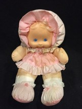 Vintage Fisher Price Puffalump Kids Dress-Up Baby Doll Pink Striped Sati... - $29.65