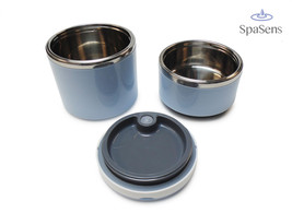 Blue Two Layer Insulated Compact Bento Lunch Jar Stainless Steel Portabl... - $29.00