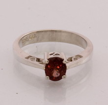 Natural Red Spinel Handmade Sterling Silver Stackable Ladies Ring size 7.5 - £76.45 GBP
