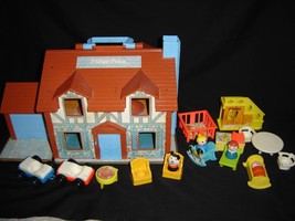 Vintage 1969 Fisher Price Brown Tudor Family Ho... - $51.43