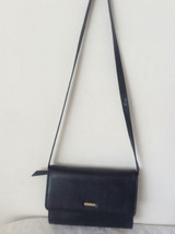 Elegant Liz Clairborne Embossed Balck Leather Shoulder Clutch Handbag Purse - $23.75