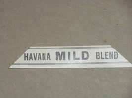 unused Vintage Havana Mild Blend wrapper label ... - $5.81