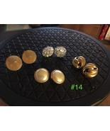 Vintage Clip Earrings - 4 Pairs  Lot #14 - $18.27