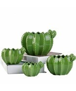 Ceramic Cactus Flower Pot Creative Plant Sculpture Craft Succulent Home ... - $25.62+