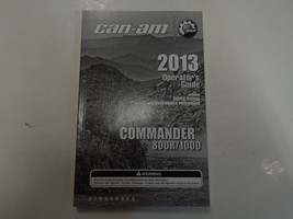 2013 Can Am Can-Am Commander 800R 1000 Operators Guide Owners Manual FAC... - $54.44