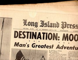 Long Island Press Newspapers July 16, 1969 - $4.90