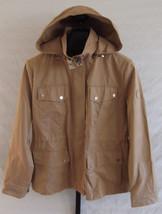 NWT Lauren Ralph Lauren Khaki Water Resistant Hooded Jacket Rain coat Size L - $91.08