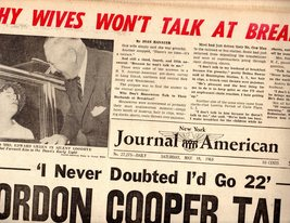 Journal American Newspaper May 18,1963 - $4.90