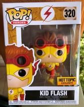 Funko Pop! Heroes Kid Flash #320 Hot Topic Exclusive Box Not Pristine - $14.21