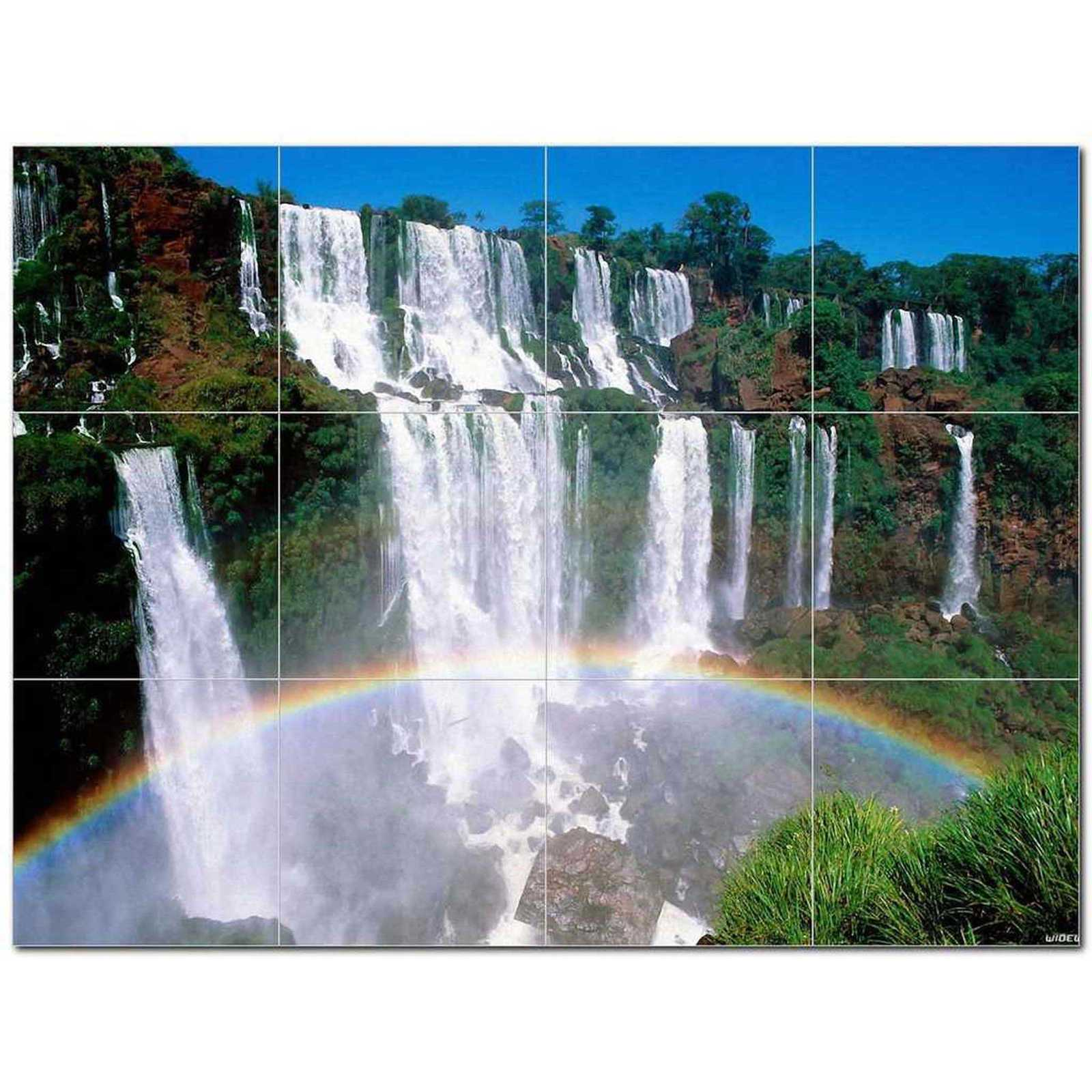 Primary image for Waterfalls Photo Ceramic Tile Mural Kitchen Backsplash Bathroom Shower BAZ406239