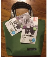 IRIS BARCELONA Green Insulated Reusable Lunch Bag Tote 3.7 L / 125.1 OZ - $24.99