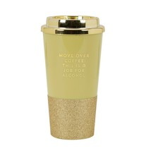 C.R. Gibson 'Move Over Coffee' Funny Gold Travel Tumbler Coffee Cup, 16 oz. - $14.17