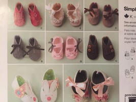 # Simplicity Sewing Pattern 1710 Baby Infant Booties Felt Shoes Uncut New - $11.58