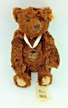 Steiff Teddy Bear Mohair Dark Brown 2005 Plush Golden Coin Jointed 66826... - $67.72