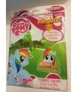 My Little Pony Pop-Outz Funny Faces Color and Play RAINBOW DASH New  - $6.92