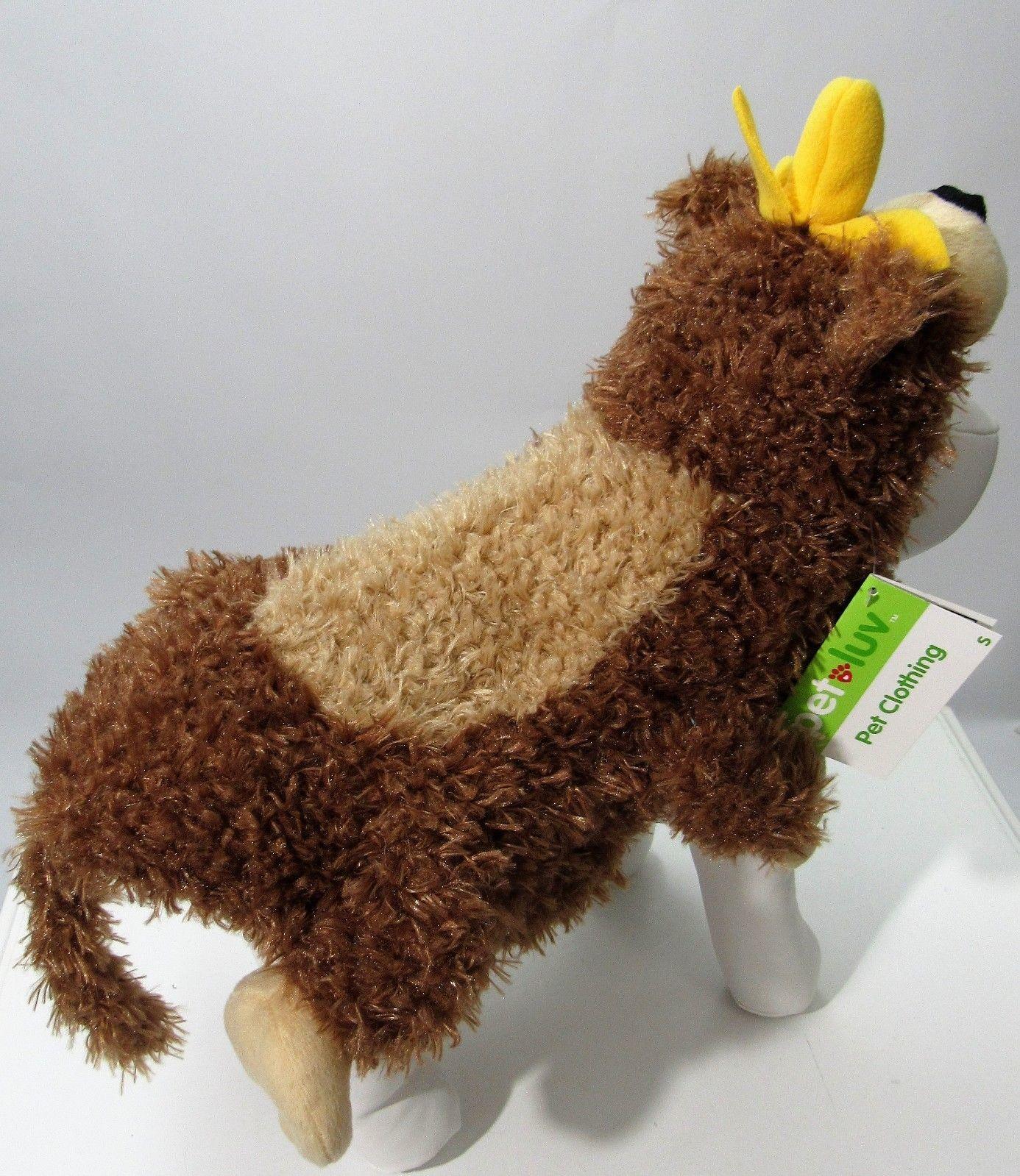 Pet Monkey W/ Banana On Head Halloween Costume Sz S NEW