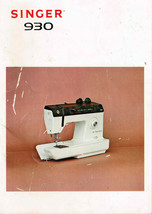 Singer 930 Sewing Machine Manual, Illustrated - $9.87 CAD