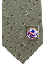 New York Mets Mens Necktie MLB Baseball NY Logo Sports Fan Silk Tan Neck Tie  image 3