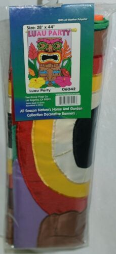 Two Group Flags Co 06042 Luau Party Polyester Tiki Indoor Outdoor Banner