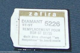 Zafira 5226 NEEDLE STYLUS for BSR ST-12 ST-15 273-DS77 STEREO PHONOGRAPH image 5